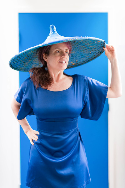 Blue Hat Blue Dress Blue Door Self Portrait copyright Sam Breach 2016.jpg