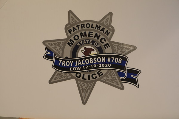 Momence Police Department Line Of Duty Death Funeral For Officer Troy Jacobson Badge #708
