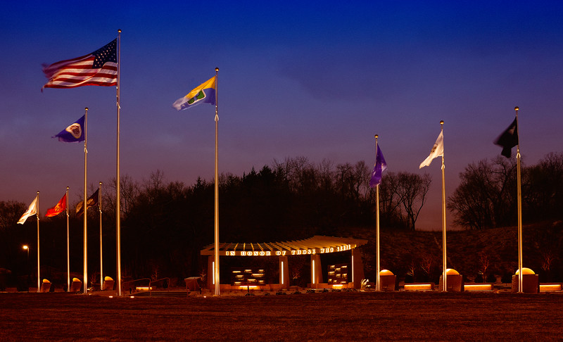 Veterans Park Dawn  flags NW.jpg