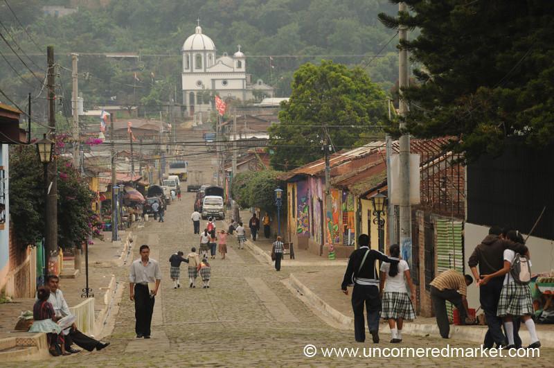 Ataco Street Scene - Ruta de las Flores, El Salvador