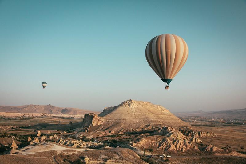 Hot air balloons in Turkey