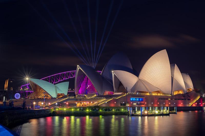 Reflections of Vivid    Sydney