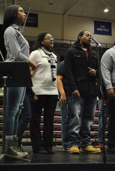 The gospel choir performs during celebration week