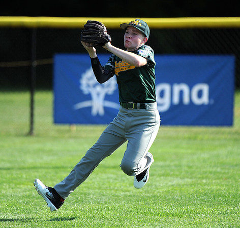 8/6/2018 Mike Orazzi   Staff Middletown New Jersey Little League's Dylan Briggs (6) at Breen Field in Bristol during the 2018 Little League Eastern Regional Tournament.