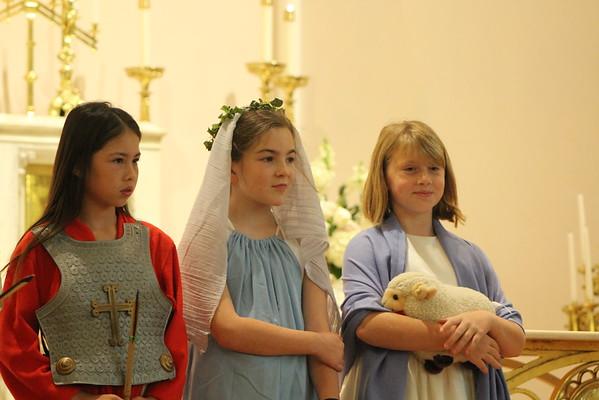 4th Grade Living Litany of Saints (11.2.16)