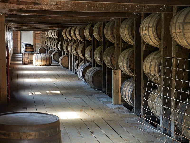 Bourbon storage warehouse