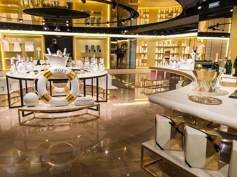 Moet's luxurious showroom