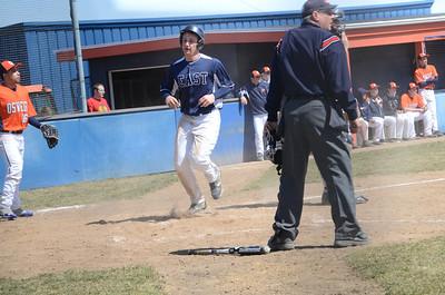 Oswego East Varsity baseball Vs Oswego 2013