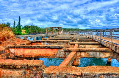 The former (abandoned) port of Kauai.