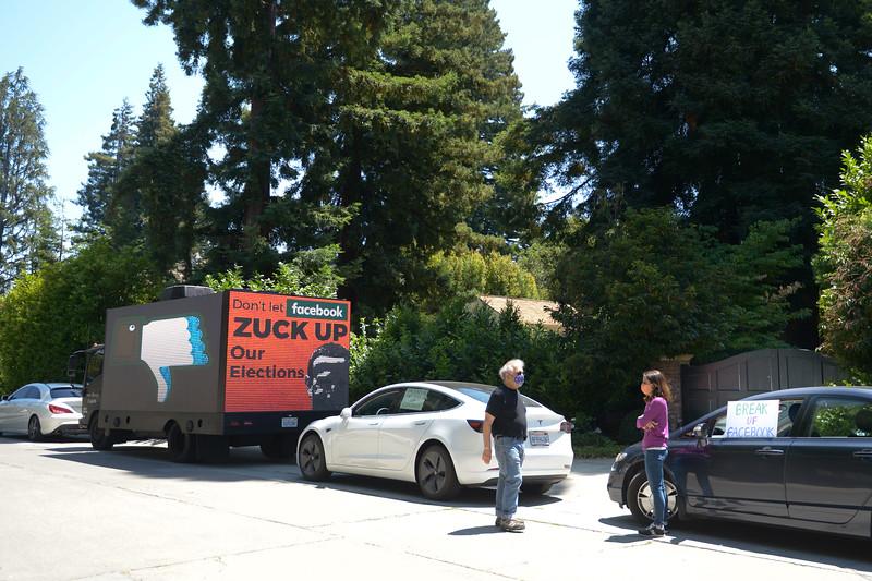 Mobile Billboard Protest of Facebook