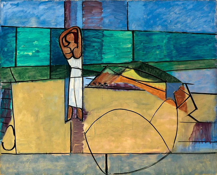 "Karl Knaths, ""Beach — 1949 (1971)"""