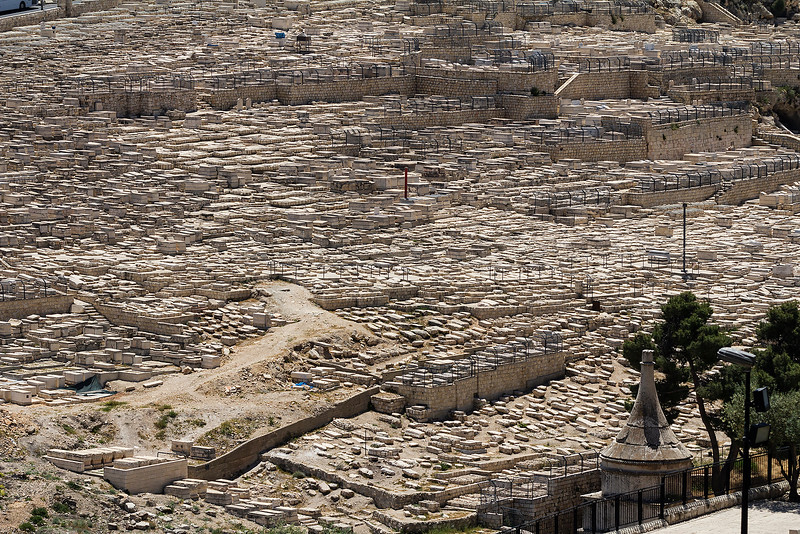 A section of the tombs of the Kidron Valley