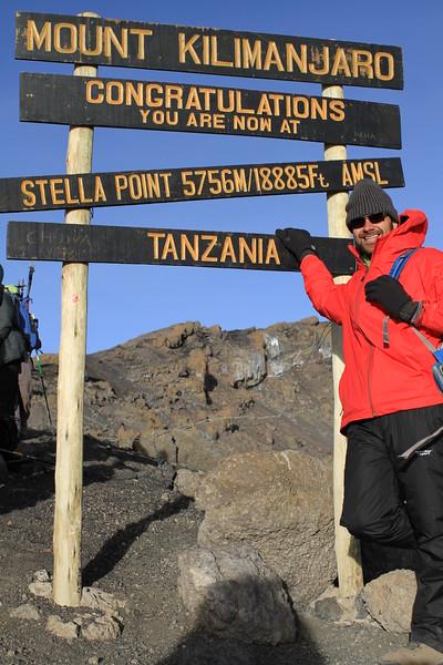 At Stella point (5,685 m)