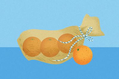 ··· voir filet flûte 3 oranges ···