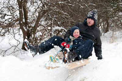 Sledging - Tunstall Hill 2009