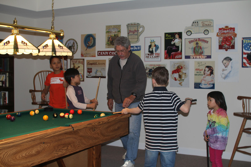 these kids live two houses over - Aaron befriended them a couple of years ago -  they all play well together.