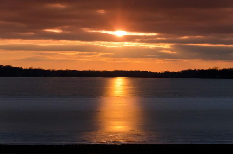 Sunset over Cass Lake-5477