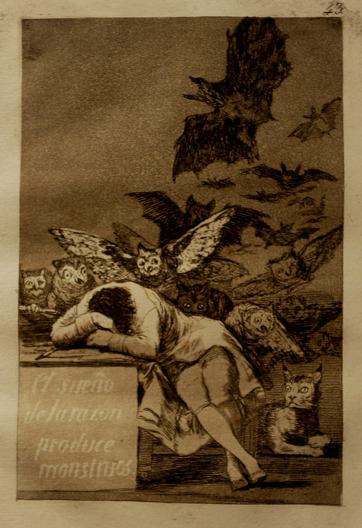 ". Goya\'s. ""The Sleep of Reason Produces Monsters\"" First edition, 1799"
