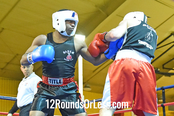 Bout 5 KC Austin, Red Gloves, Strongstyle/Old School -vs- Mardell Hollis, Blue Gloves, Salem BC, 152 lbs, Novice, 2 Min. Rds.