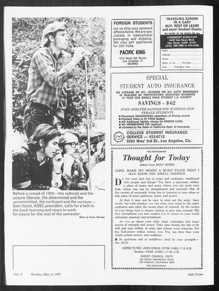 SoCal, Vol. 61, No. 122, May 11, 1970