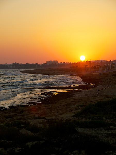 Sunset on the Aya Promenade