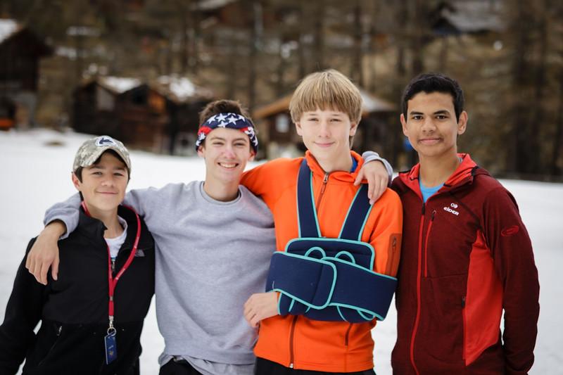 Hunter, Matt, Bennitt, and Neel