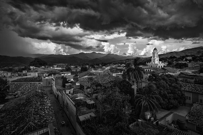 View over Trinidad, Cuba. Convento de San Francisco on the right