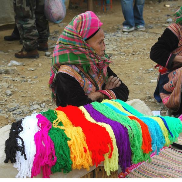Colorful Threads - Bac Ha, Vietnam