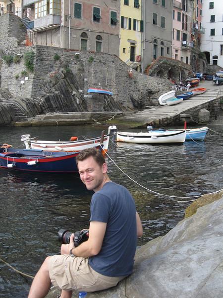 In Riomaggiore.