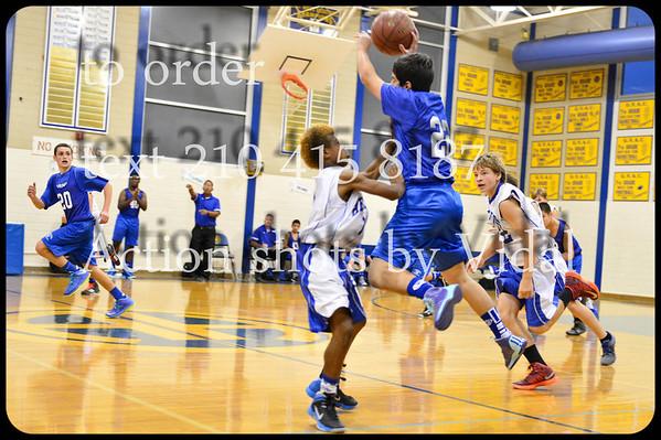 Garner Basketball 8th grade vs A H