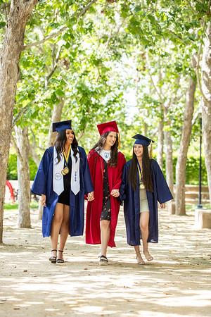 Jovana, Mia, and Kathy Senior Grad