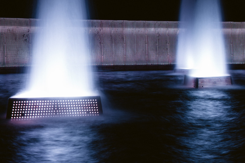Fountains, night