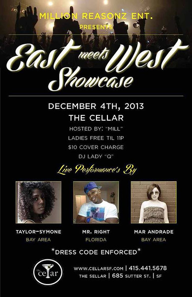 East meets West @ The Cellar -SF 12.4.13