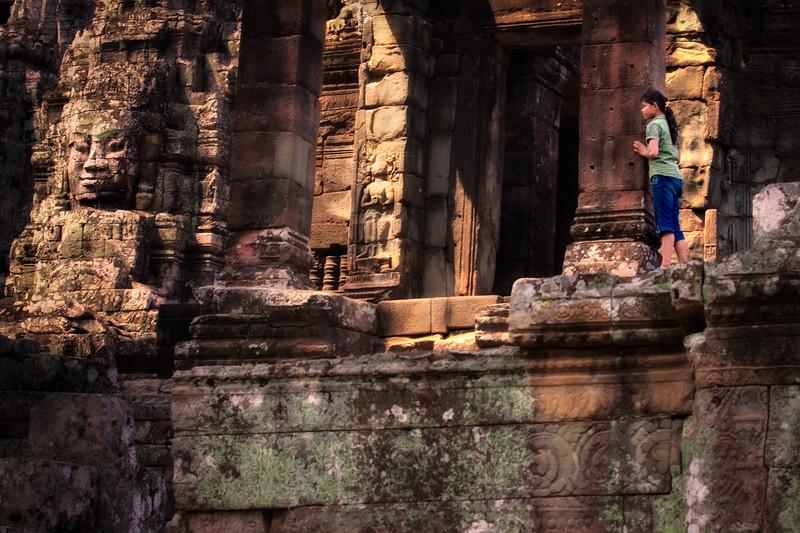 """Curiosity""  Bayon, Angkor."