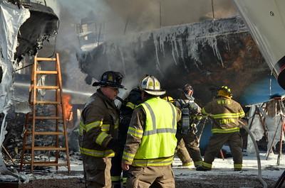 3rd Alarm Boat Fire - Stonington Borough, CT - 12.20.12