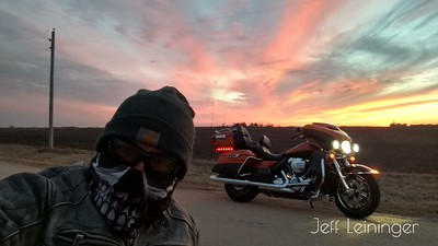 After work, sunset ride.