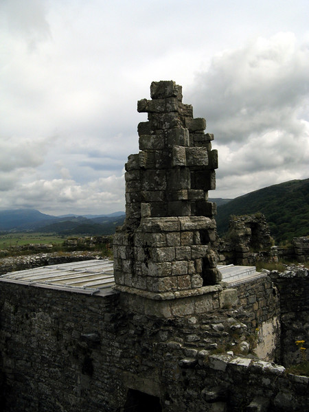 A chimney stack