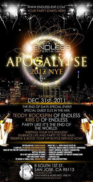 12/31 [Apocalypse@Studio 8]