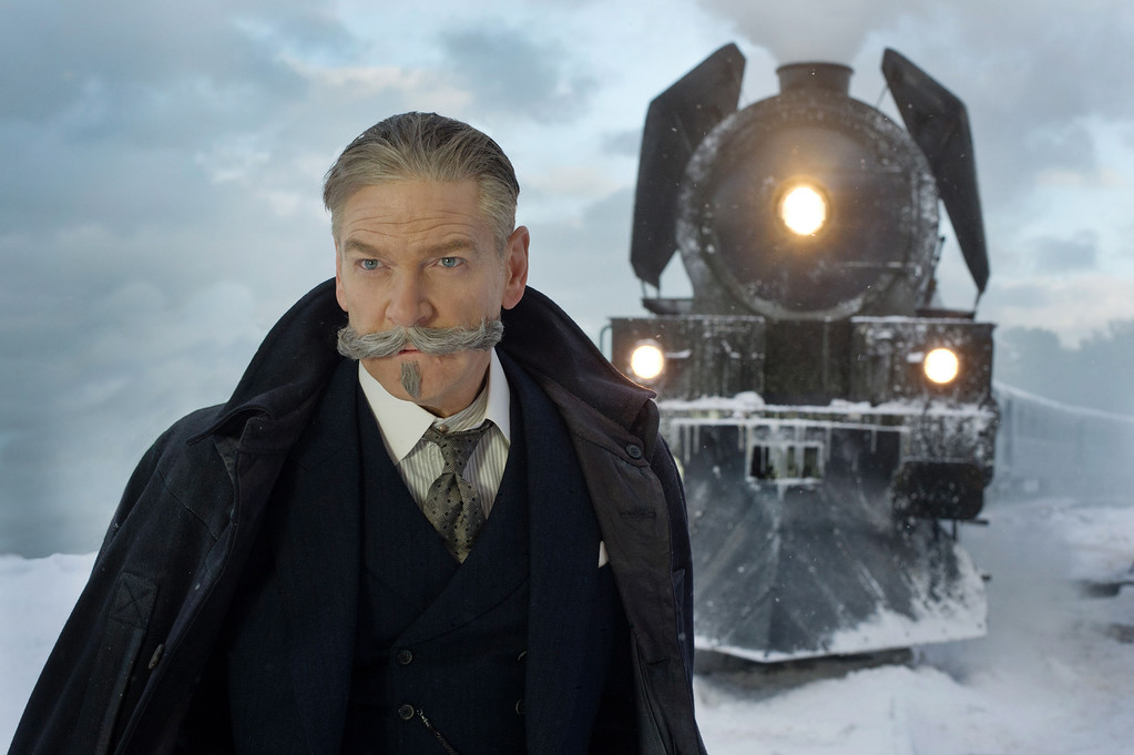 ". Kenneth Branagh stars as detective Hercule Poroit in ""Murder on the Orient Express,\"" in theaters Nov. 10. (Twentieth Century Fox)"