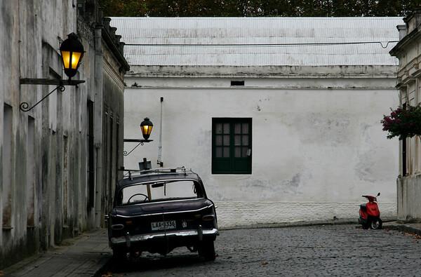 An abandoned car in Colonia del Sacramento, Uruguay