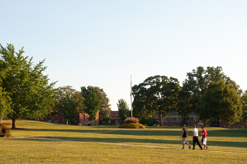 GWU students enjoying the warm fall weather on the quad.