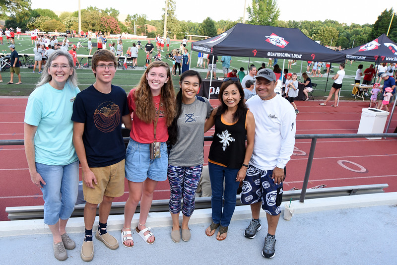Future Davidson roommates and their families met for the first time at Fan Fest.