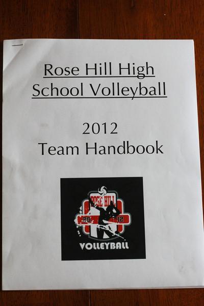 2012 Rose Hill High School Volleyball Team Handbook