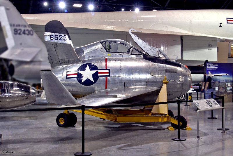 National Museum of the United States Air Force, Dayton, Ohio,   04/13/2019  McDonnell XF-85 Goblin 46-0523    c/n 1  This work is licensed under a Creative Commons Attribution- NonCommercial 4.0 International License.