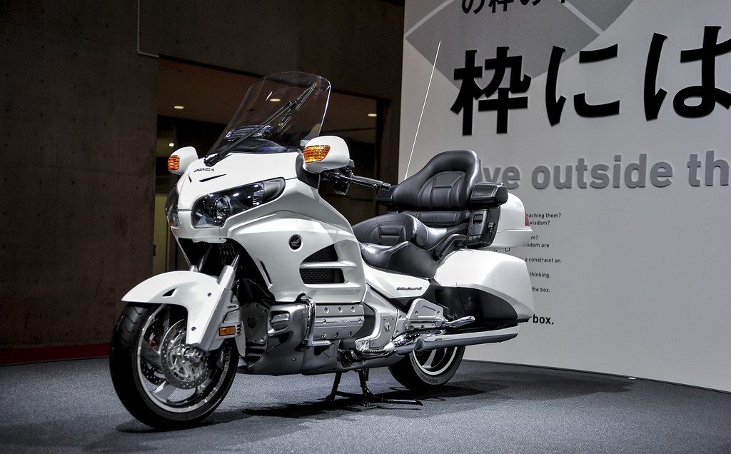 . Honda Motor Co. Goldwing motorcycle is displayed during the 43rd Tokyo Motor Show 2013 at Tokyo Big Sight on November 20, 2013 in Tokyo, Japan.  (Photo by Keith Tsuji/Getty Images)