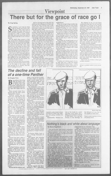 Daily Trojan, Vol. 110, No. 12, September 20, 1989