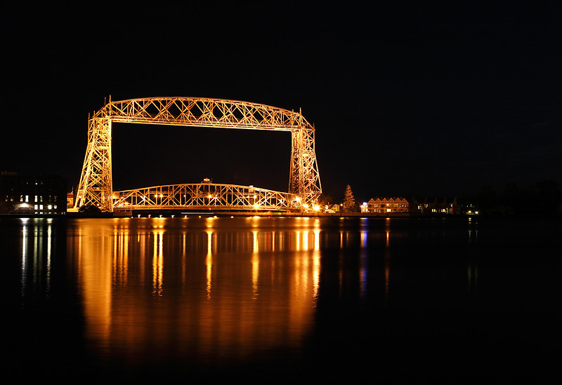 Harbor Glow - Duluth Aerial Lift Bridge (Duluth, MN)