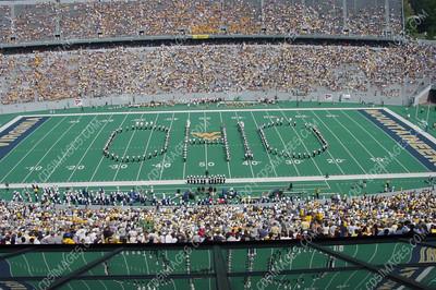 WVU vs Ohio University - Halftime Formations