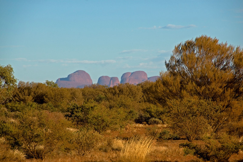 Kata Tjuta from Uluru - Northern Territory, Australia