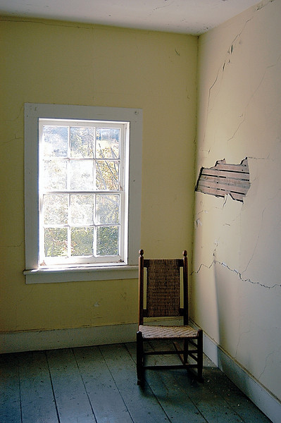 Rocker and window, Mohonk Mountain House, New York
